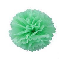 Помпон 25 см зеленого цвета. Украшение для свадебного зала