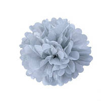Помпон 25 см серого цвета. Украшение для свадебного зала