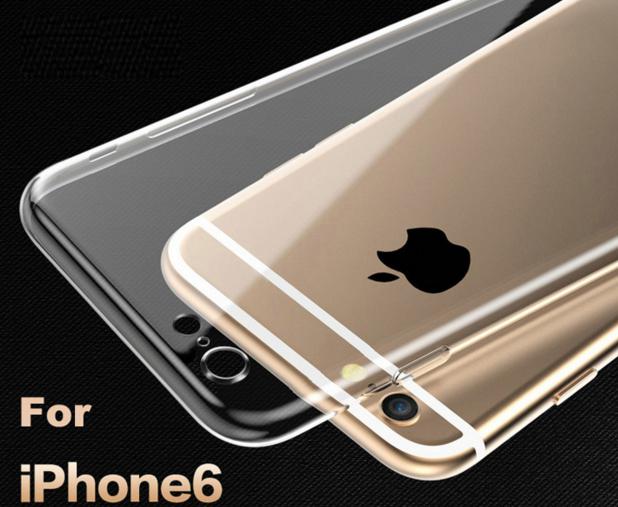 Силиконовый прозрачный ультратонкий чехол для phone 6 6S
