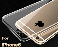 Силиконовый прозрачный ультратонкий чехол для phone 6 6S, фото 1