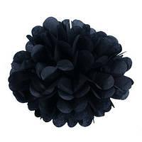 Помпон 35 см черного цвета. Украшение для свадебного зала