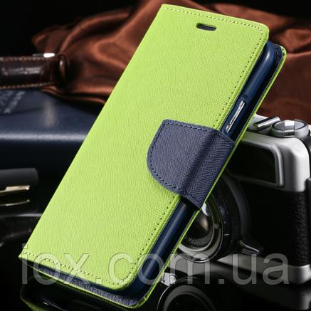 Чехол-книжечка салатовая на магните для Samsung Galaxy S3/S3 duos