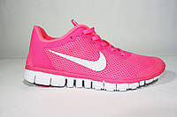 Женские кроссовки Nike Free Run 3.0 розовые Р. 41