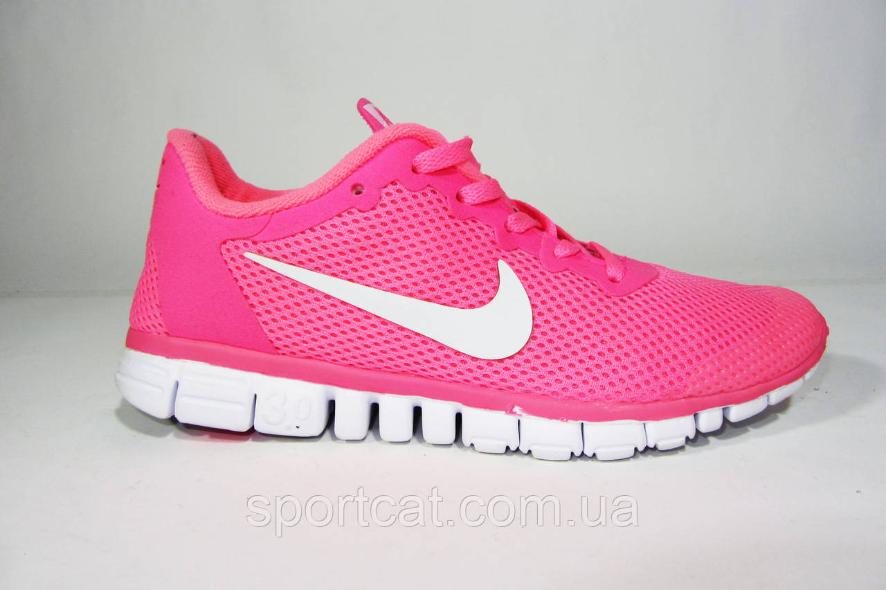 321e1a14 Женские кроссовки Nike Free Run 3.0 розовые от интернет-магазина ...