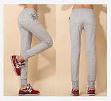 Спортивные брюки женские трикотажные. Графит, фото 6