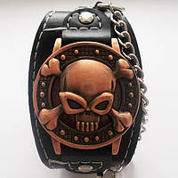 """Кварцевые наручные часы """"Череп"""" в винтажном стиле."""