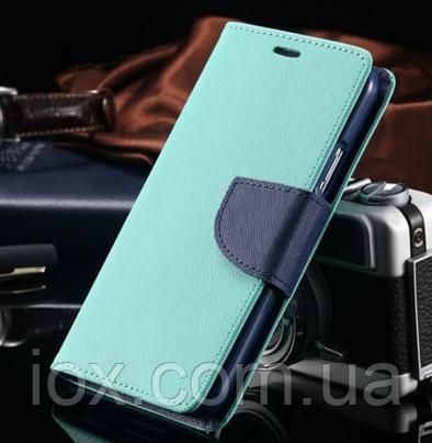 Чехол-книжечка голубая на магните для Samsung Galaxy S3/S3 duos