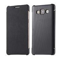 Кожаный черный чехол-книжка для Samsung Galaxy A5