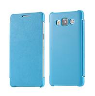 Кожаный голубой чехол-книжка для Samsung Galaxy A5