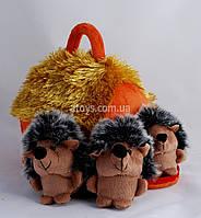 "М'яка іграшка ""ХАТКА З ЇЖАЧКАМИ"" (3 їжачки)"
