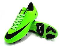Футбольные бутсы Nike Mercurial FG Green/Black, фото 1
