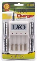 Зарядное устройство для аккумуляторов UFO KN-8003 + 4 аккумулятора UFO HR6 Ni-MH 2500 mAh
