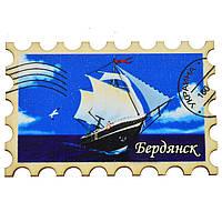 "Магнит ""Марка"" кораблик Бердянск"