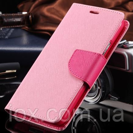 Чехол-книжечка розовая на магните для Samsung Galaxy S3/S3 duos