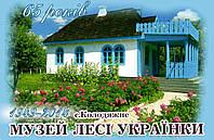 """Магніт (синій) """"Музей Лесі Українки"""" 55х90 мм"""