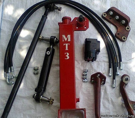 Комплект переоборудования рулевого управления ГУР МТЗ-82 с насосом дозатором, фото 2