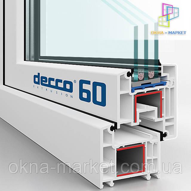 Характеристики окон пвх Decco 60