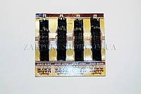 Аксессуары для волос, невидимка Индия, размер: 6 см, цвет: черная, материал: металл, 20 штук на ленте