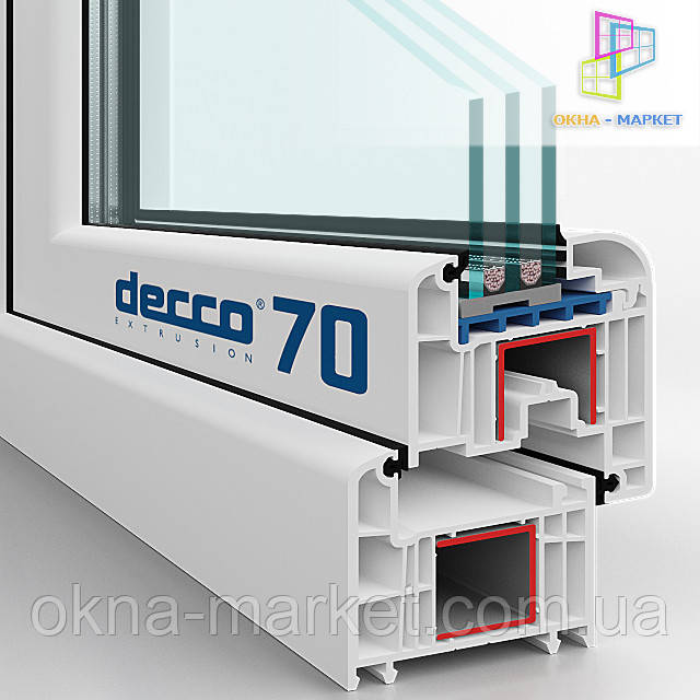 Преимущества пластиковых окон Decco 70