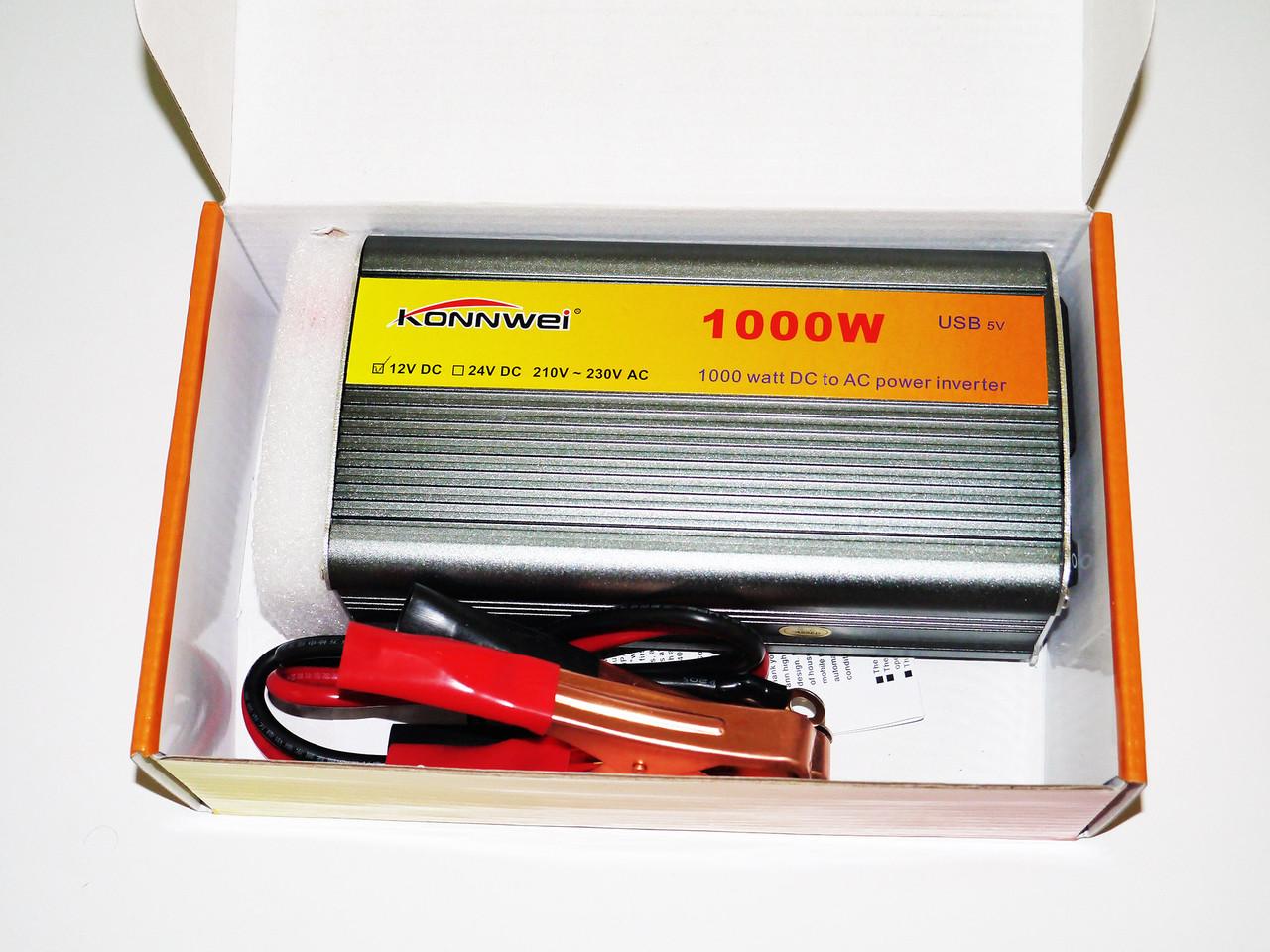 Перетворювач напруги(інвертор) 12-220V 1000W
