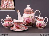 Чайный набор Lefard Весенние розы на 15 предметов 436-005