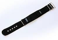 Ремешок синтетический (капроновый) Nobrand Sport для наручных часов с классической застежкой, черный, 18 мм