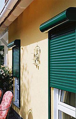Рольставни на окна, пример установки