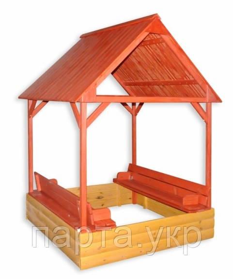 """Дитяча пісочниця із дахом """"ігровий Будиночок"""""""
