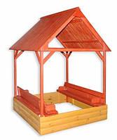 """Дитяча пісочниця із дахом """"ігровий Будиночок"""", фото 1"""
