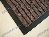 Ковер грязезащитный Полоска без вкраплений, 90х150см., коричневый