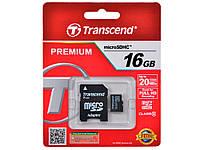 Карта памяти Transcend 16 GB microSDHC Class 10 (TS16GUSDC10)