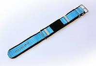 Ремешок синтетический (капроновый) Nobrand Sport для наручных часов с классической застежкой, бирюзовый, 18 мм