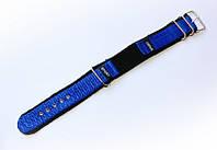 Ремешок синтетический (капроновый) Nobrand Sport для наручных часов с классической застежкой, синий, 18 мм