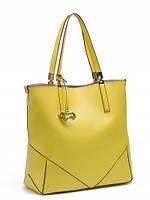 Кожаная сумка с косметичкой в 4х цветах L-DA81152-1