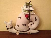Мягкая игрушка - улитка с бантиками в стиле Тильда