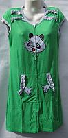 Женский халат Вьетнам трикотаж (XL-5XL) купить оптом дешево в Украине