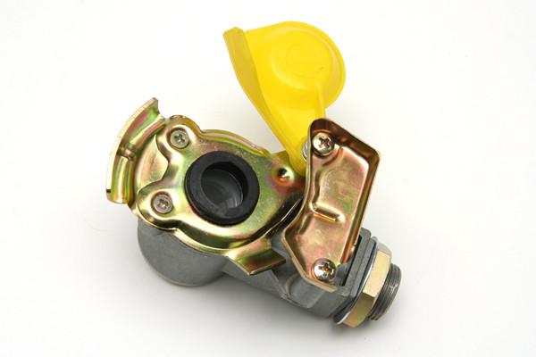 Кран воздушный с клапаном М22 желтый
