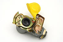 Разьем пневматичний без клапана М22 жовтий