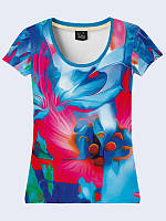 Женская футболка Цветы Арт
