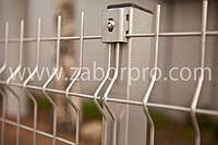 Забор оцинкованный из панелей