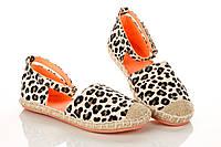 Туфли леопардовые на липучке 25 рзм.(Д)