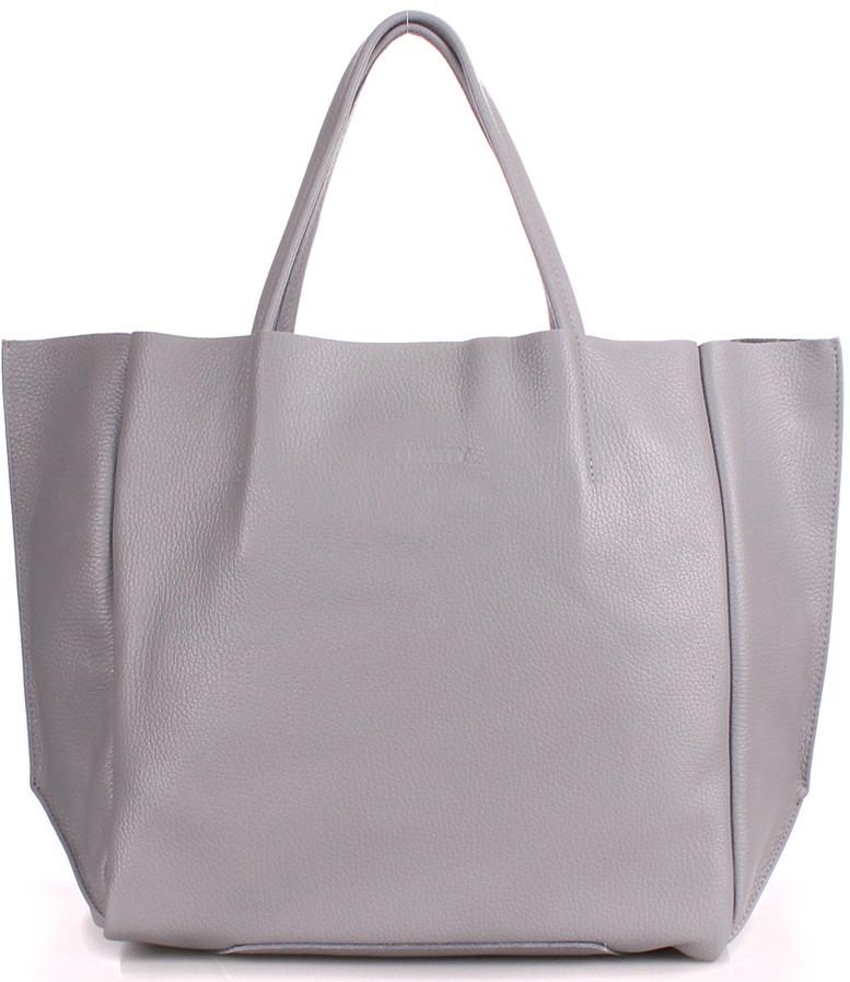 Женская из натуральной кожи сумка POOLPARTY soho-grey