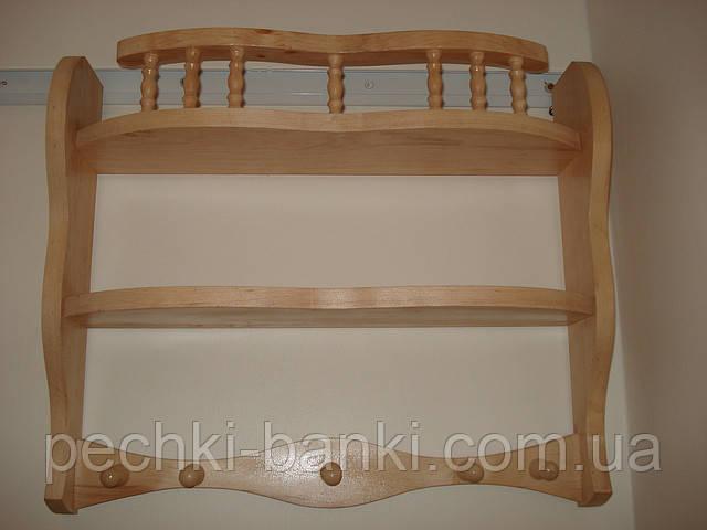 Полка деревянная фигурная с балясинами