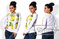Кофта женская лимоны МИС/-386