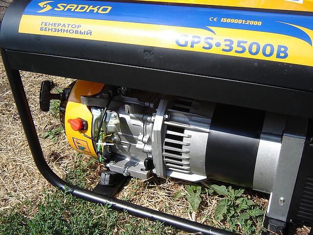 Бензиновый генератор Sadko GPS 3500B на 2,5 кВт фото 2