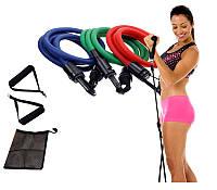 Набор эспандеров для фитнеса Pro Supra (3 резиновых жгута)