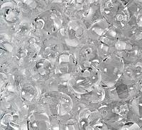 Чешский Бисер Preciosa Twin (Твин) (цвет: 38602, белый прозрачный с белой линей), 50г