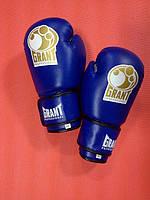 Перчатки боксерские GRANT винил - 12 унций / синие