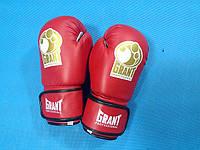 Перчатки боксерские GRANT винил - 10 унций / красные