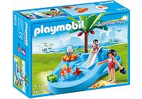 Конструктор Playmobil 6673 Детский бассейн с горкой, фото 1